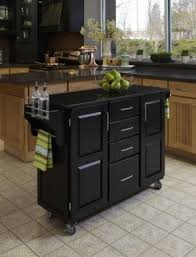 black kitchen cart with granite top foter