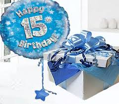 balloons in a box delivery happy 15th birthday balloon in a box blue code jgf15bh15bbb