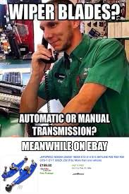 Meme Store - the difference between auto parts stores and ebay