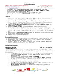 java resume stack java developer also resume partypix me