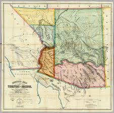 County Map Of Arizona by Official Map Of The Territory Of Arizona David Rumsey