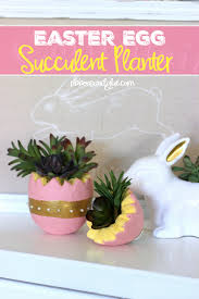 succulent planter easter egg succulent planter