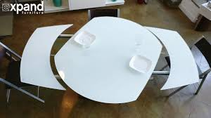 round expandable kitchen table baobab round white glass extendable kitchen table on wood base