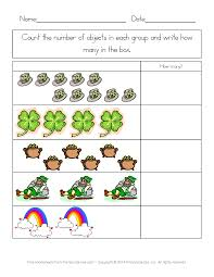 st patrick u0027s day worksheets st patrick u0027s day counting practice