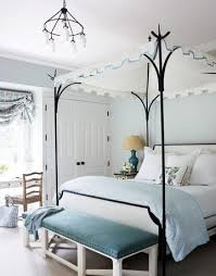 lovely blue gray bedroom design with blue gray walls paint color