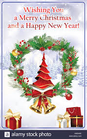 business winter greeting card we wish you merry