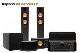 home theater system receiver klipsch rf 42 ii 5 1 speaker system and marantz sr5009 7 2 channel