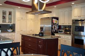 Kitchen Island Range Hoods by Kitchen Wonderful Custom Glazed Kitchen Cabinets Pictures With