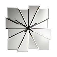 modern wall clocks stylish ideas mirrored wall clock sensational design modern wall