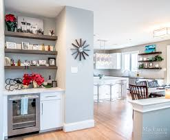 modern designer kitchen west chester pa maclaren kitchen and bath at the entrance of the kitchen there is a welcoming butler s pantry with floating shelves