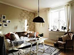 living room dining room design idea with shabby chic decor also