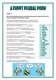 73 free esl plural nouns irregular plurals worksheets
