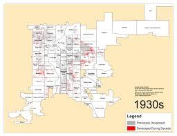 Denver Maps Denver U0027s Single Family Homes By Decade 1930s U2013 Denverurbanism Blog