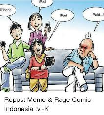 Comic Meme - iphone ipod ipad paid repost meme rage comic indonesia v k