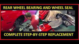 2013 mustang rear axle rear axle wheel bearing and seal replacement ford mustang