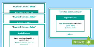 inverted commas display posters pack speech marks poster