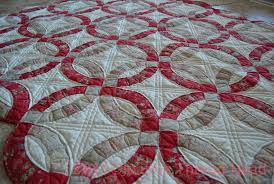 Wedding Ring Quilt by Thread Head Double Wedding Ring Quilt