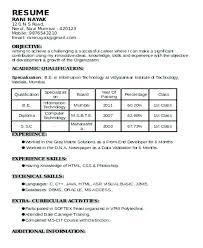standard format resume standard format of resume micxikine me