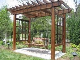 Backyard Swing Set Plans by Best 25 Arbor Swing Ideas On Pinterest Pergola Swing Swings