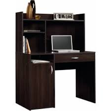 espresso desk with hutch morgan computer desk with hutch espresso walmart com