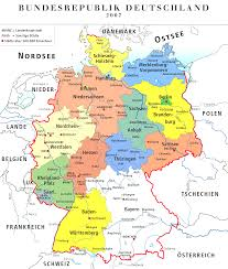 map of germany with states and capitals map of german states and cities thumbalize me