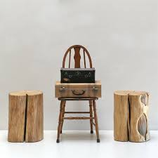 Tree Stump Nightstand 40 Best Stump Stools Images On Pinterest Chairs Wooden Stools