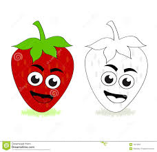 strawberry cartoon stock photography image 13212052