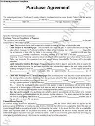 purchase agreement template word excel templates