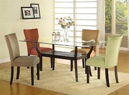 contemporary glass top dining table ashley furniture round dining