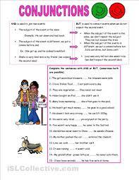 conjunctions worksheet conjunctions pinterest printables