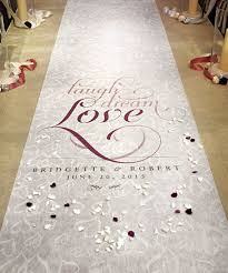 aisle runners for weddings personalized aisle runners wedding ideas wedding