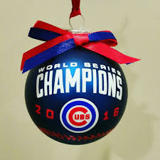 chicago cubs 2016 world series tree ornament on a 3 inch