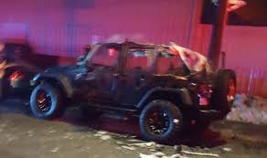 police jeep wrangler framingham police fire responded to jeep on fire framingham source