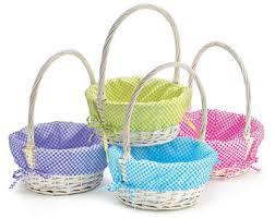 blank easter baskets willow easter basket etsy