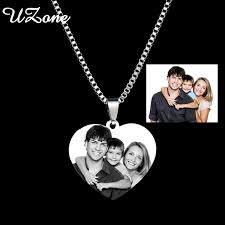 Mens Personalized Jewelry Aliexpress Com Buy Uzone Men U0027s Prints Family Photo Pendant
