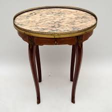 antique french marble top side table 1920 to 1930 france from