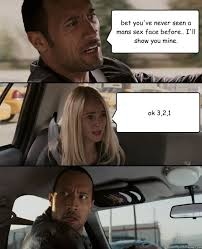 Sex Face Meme Female - the rock driving memes quickmeme