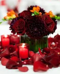 Burgundy Wedding Centerpieces by Deep Burgundy Bouquet October Wedding Ideas Pinterest