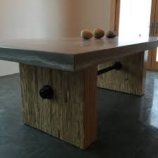 Wood Conference Table Buy A Hand Crafted Custom Concrete Steel U0026 Wood Conference Table