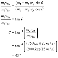 solving conservation of momentum problems in two dimensions