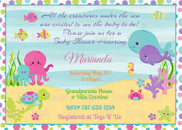 the sea baby shower invitations printable the sea girl baby shower invitation plus free blank