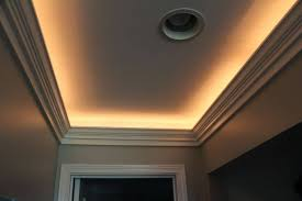 crown molding lighting tray ceiling narrow tray ceiling illuminated with lighting and designed with