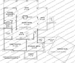 camp cullowee cottage rustic mountain timber frame home plans basement