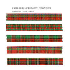 tartan ribbon 25mm lurex tartan ribbon globe trade warehouse