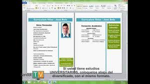 formato hoja de vida 2016 colombia como hacer tu curriculum vitae hoja de vida fácil y rápido 2017