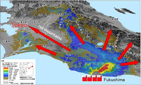 Fukushima Fallout Map by Podopolog