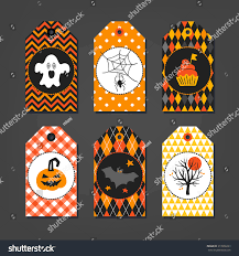 Gift Halloween by Set Halloween Gift Tags Ghost Spider Stock Vector 313938263