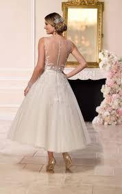 tulle wedding dresses tea length tulle wedding dress stella york wedding dresses