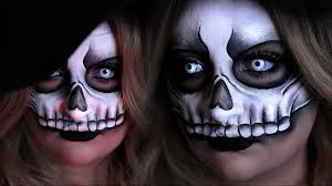 voodoo skull mask halloween costume makeup tutorial 31 days of