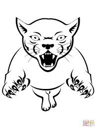 cougar coloring pages free coloring pages